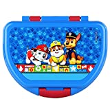 P:os 29427 Fiambrera para niños y niñas con moderno diseño de La Patrulla Canina en azul, aprox. 16 x 12 x 6,5 cm, de plástico, sin BPA ni ftalatos