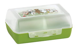 Caja de aperitivos meriendas desayunos o bocadillos para ninos