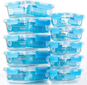 Crest Táper de cristal apilables para la conservación de alimentos