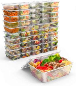Gifort El lote de 50 cajas baratas para almacenar alimentos en el microondas