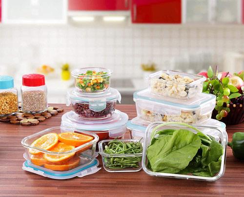 Tápers herméticos de vidrio kichly para la conservación de alimentos