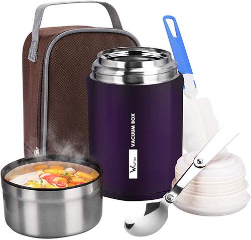 WisFox El termo de comida que se mantiene caliente hasta 12 H